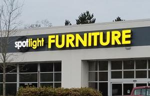 Tukwila Illuminated Electrical Business Signs for Tukwila Furniture Stores